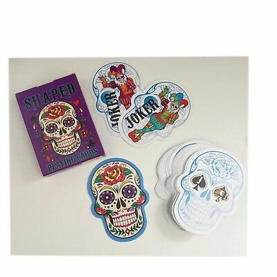 Candy Skull Shaped Playing Cards - Standard Size - Halloween  Día de Muertos