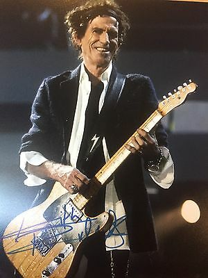 Authentic Keith Richards signed autographed photo 8 x 10 COA Rolling Stones