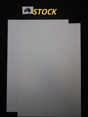 2 X A4 Size White ABS Plastic Sheet, 1 MM thick, for DIY Model Craft