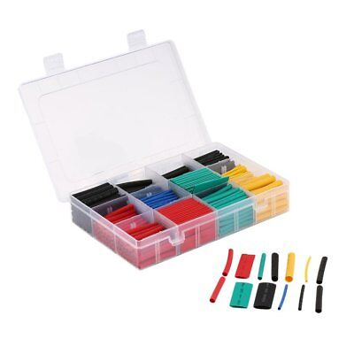 530PCS 2:1 Shrink Ratio Heat Shrink Tubing Tube Sleeving Wrap Cable Wire Kit UE