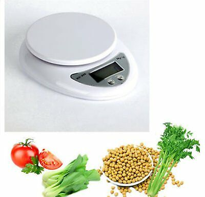 Accuracy 0.1g-1g 5000g 5kg Mini Digital LCD Electronic Scales Home Kitchen BH