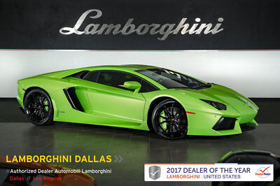 2015 Lamborghini Aventador LP700-4 Coupe 2-Door RACE EXHAUST+RADAR+GREEN CALIPERS+NAV+RR CAM+AD PERSONAM+DIONE FORGED+CARBON