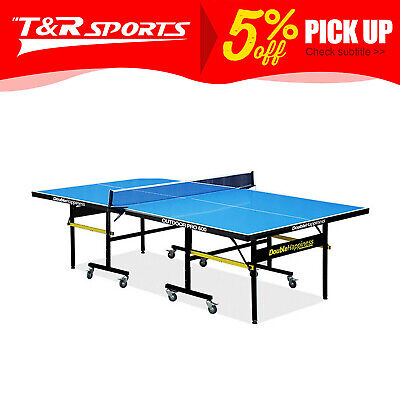 OUTDOOR Pro 600 Table Tennis/Ping Pong Table Double Happiness Free Accessories