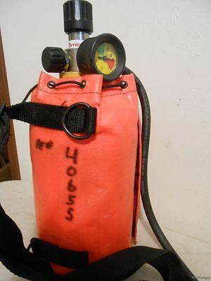 Emergency Life Support Apparatus ELSA 5 Minute Air Tank Escape Uncharged Prepper