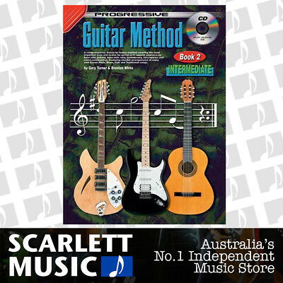 Progressive 18303 Guitar Method Intermediate Book 2 ( Two / Second ) w/ CD