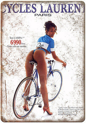 """Cycles Laurent vintage cycling ad 10"""" x 7' reproduction metal sign"""