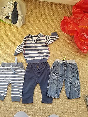 Baby Boys Clothes Bundle 3-6 Months Next M&Co M&S Trousers Joggers Tshirts Tops