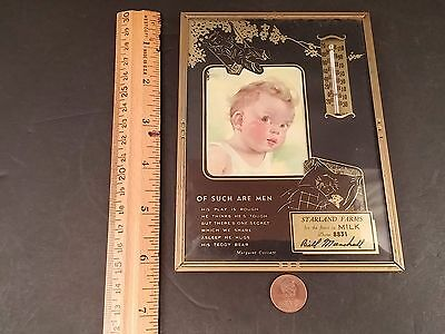 Advertising Thermometer Starland Farms Milk Bill Marshall Phone 8831 Dairy Adver