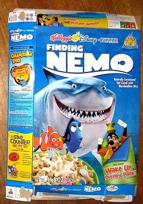 FINDING NEMO cereal box 2006