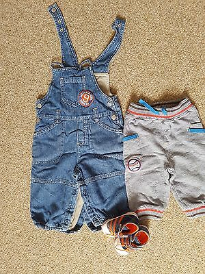 baby boy clothes and  pair of brand new shoes 3-6-Months