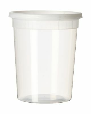 YW Plastic Soup/Food Container with Lids (12) 32 oz 12 Pack