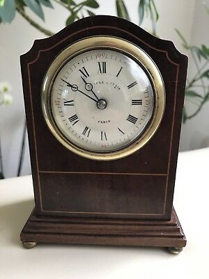 Antique Regency Mahogany  Maple & Co Ltd (Paris) Clock