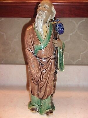 "Vintage Antique Chinese Mudman Approx 12"" Tall  -Very Nice"
