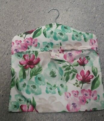 Peg Bag - High Quality 100% Polyester - stainless steel Hanger - Floral print