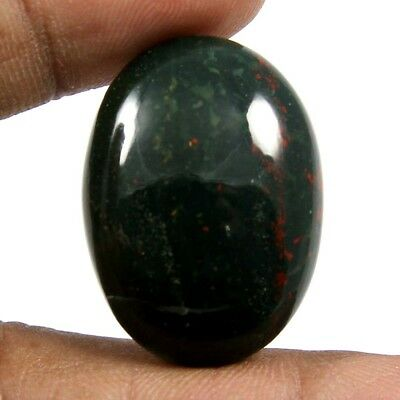 39.45 cts Natural Bloodstone Cabochon Beautiful Designer Oval Loose Gemstones