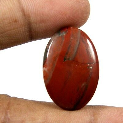 17.60 cts Superb Natural Rare African Bloodstone Oval Loose Gemstone Cabochon