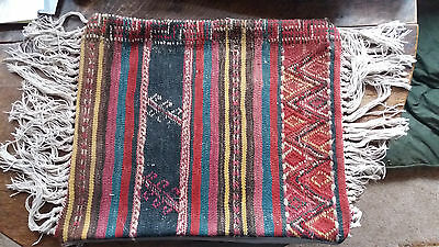 Old Carpet Cushion/fringed, Without Inner Pad.