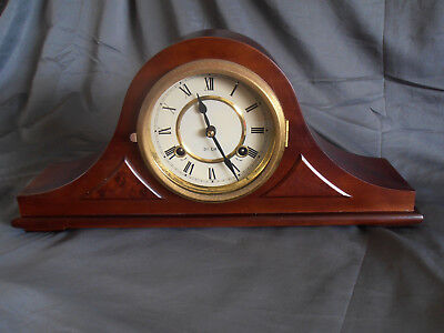 31 Day Mantel Clock for Parts or Repair with Key & Instructions Spiegel