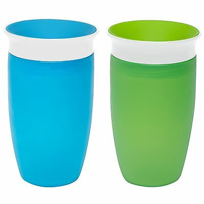 Munchkin Miracle 360 Sippy Cup, Green/Blue, 10 Ounce, 2 Count fast ship !!