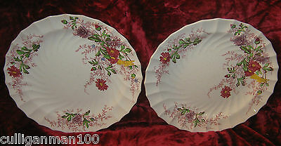 """1 - Lot of 2 - Spode 8"""" Fairy Dell Luncheon Plates (2017-201)"""