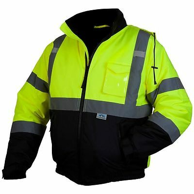 Hi-Vis Pyramex Lumen-X RJ32 Class 3 Safety Jacket with Quilted Liner