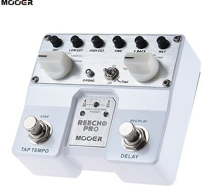 MOOER Reecho Pro Digital Delay Guitar Effect Pedal Twin Footswitch With 6 Delay