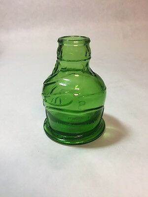 Vintage original Pocahontas Indian Herbs Wheaton NJ Jar in Dark Bottle Green