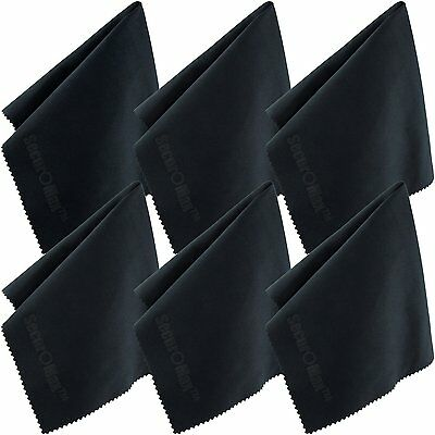 SecurOMax Microfiber Cleaning Cloth 12x12 Inch 6 Pack for Lens, Eyeglasses,