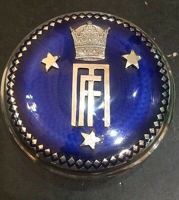 """Wedding egypt king farouk's Sister Silver Antique Box""""fawzia And Mouhamed"""""""