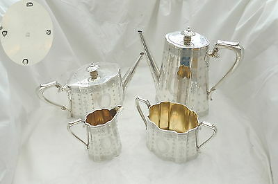 Rare Victorian Hm Sterling Silver 4 Piece Tea Set 1873