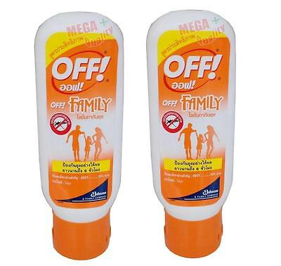 2 x OFF Johnson Mosquito Insect Repellent Liquid Lotion for Family Long 6hr 50ml