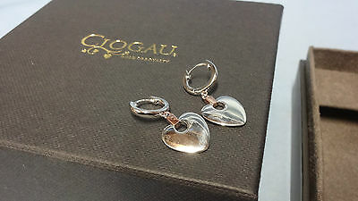 Welsh Clogau Silver & Rose Gold Cariad Heart Drop Earrings RRP £139 Type 2