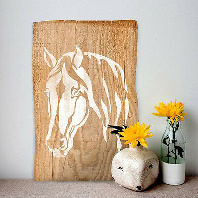 Horse Head Wall Stencil - Quick and Affordable Stencil for DIY Wall Art