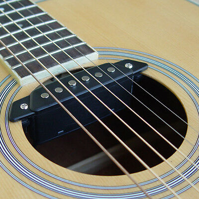 Belcat Sound Hole Pickup With Active Power Jack SH-85 Black For Acoustic Guitar