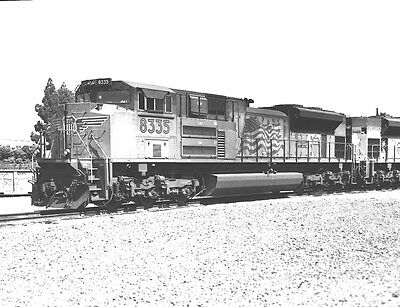 Original 2 1/4 x 2 3/4 B&W Negative ~ Union Pacific #8335  SD70ACe