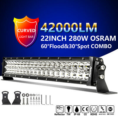 42In 560W Osram Curved Led Light Bar Spot Flood Combo Suv 4Wd Driving Lamp Vs 44