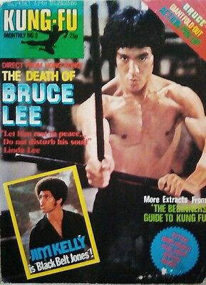 Kung Fu Monthly No.3 (UK Magazine) used splitting & stains acceptable condition