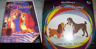 Disney Lady and the Tramp Combo Pack. VHS Black Diamond and LP Soundtrack!