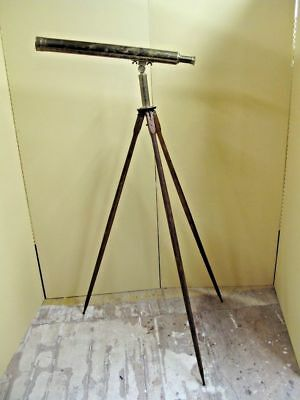 Antique E VION PARIS Garden Telescope. 2 inch objective