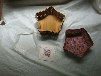 Longaberger  Proudly American 30 Year Small Star Combo Liner Protector