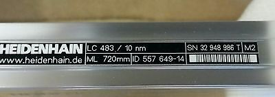 720mm Heidenhain Linear Encoder LC 483/ 10nm scale with AE LC 4x3 Read Head