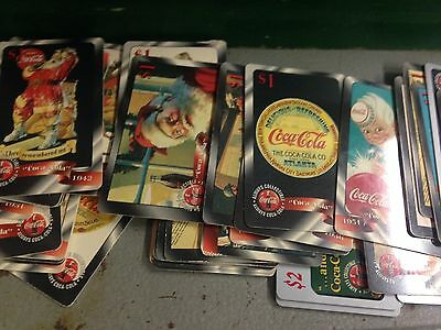 Lot Of Coca Cola Unused Spring Calling Cards In Collector Tin