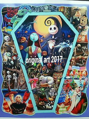 Original art print Nightmare before Christmas  one of a kind only available here