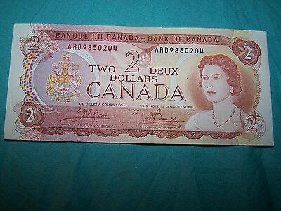 1974 Canadian $2 bill - two dollar note ARD8892194