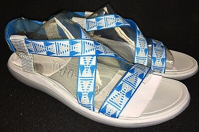f20b6565e791 TEVA TERRA FLOAT LIVIA Grey Gray Blue STRAPPY SANDALS WOMENS 1009807 size 7