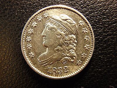 1832 capped bust half dime, uncirculated details