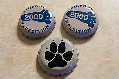 2 - Sierra Nevada Bigfoot 2000 Brewery Brewing Beer Bottle Cap + Paw