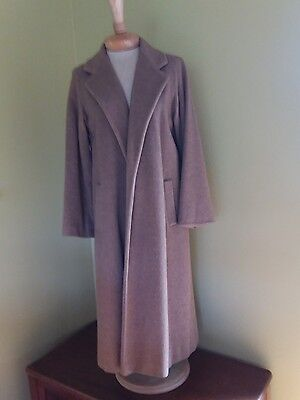 Vintage Regency Full Length Cashmere with Fox Fur Collar Coat  Size 8