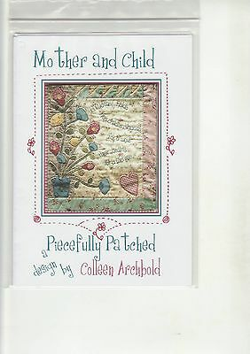 PATCHWORK & QUILTING PATTERN  -  'Mother & Child'  (Wall Hanging)