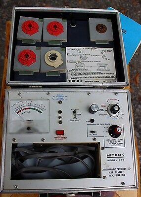 Vintage HICKOK CRT Tube Tester Model 265 with Manuals